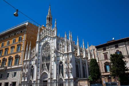 Church of the Sacred Heart of Jesus in Prati built on 1917 in Rome Zdjęcie Seryjne
