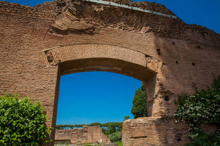 Ruins at the Domus Augustana on Palatine Hill in Rome