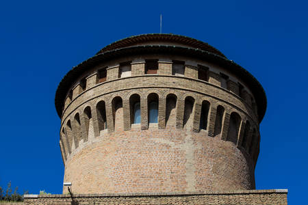 Tower at Porta Pertusa one of the gates of the Leonine Wall in Rome