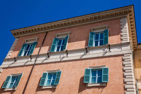 Beautiful architecture of the antique buildings at Rome city center Zdjęcie Seryjne