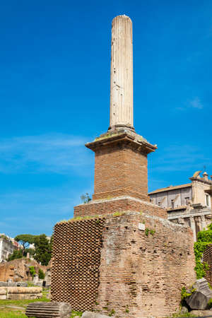 Honorary Column at the Roman Forum in Rome