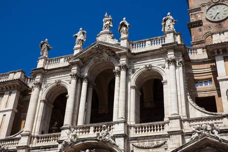 The historical Basilica of Saint Mary Major built on 1743 in Rome