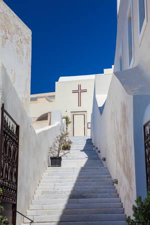 Saint John the Baptist church in the city of Fira in the Island of Santorini