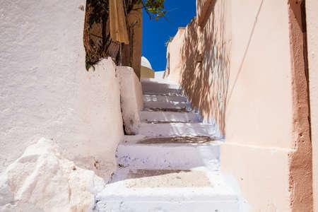 Alleys at Akrotini village in Santorini Island