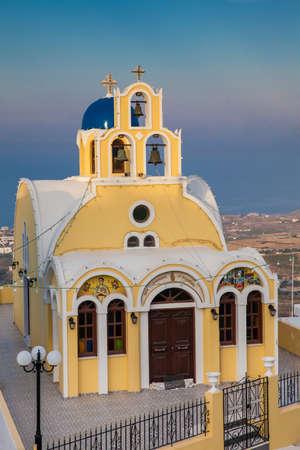Saint John church in Fira city at Santorini Island
