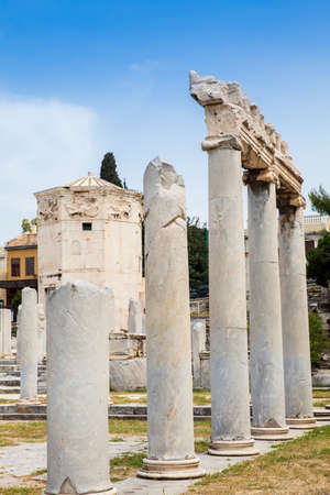 Ancient ruins at the Roman Agora located to the north of the Acropolis in Athens Reklamní fotografie