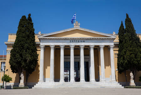The Zappeion a building in the National Gardens of Athens in the heart of the city built in 1888 写真素材