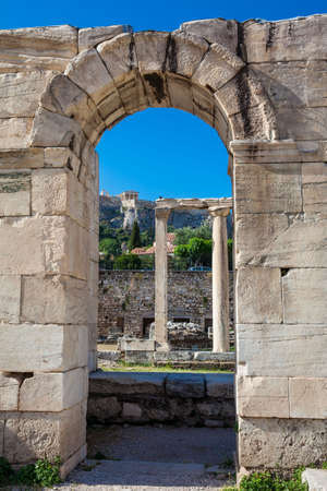 Ruins of the Tetraconch Church built in the court of the Hadrian Library in Athens city center