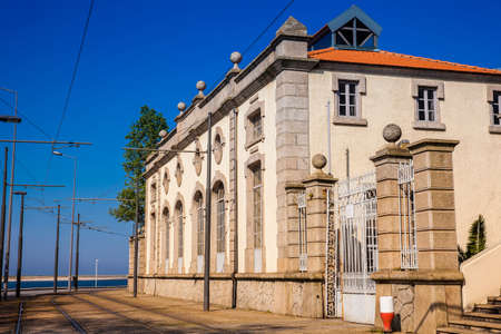 Beautiful antique house on a corner of the Rua de Sobreiras in Porto city in Portugal