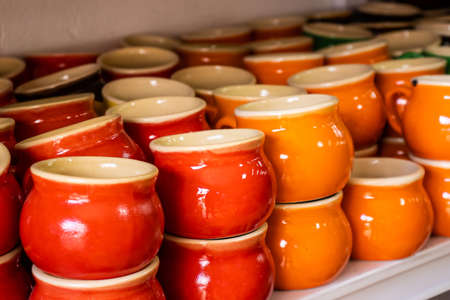 Beautiful traditional handicrafts of the small town of Raquira in Colombia. The City of Pots.