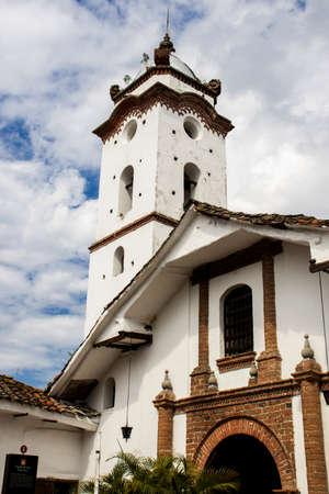 The historic Capilla de San Francisco built in 1746 at the city of Guadalajara de Buga in Colombia
