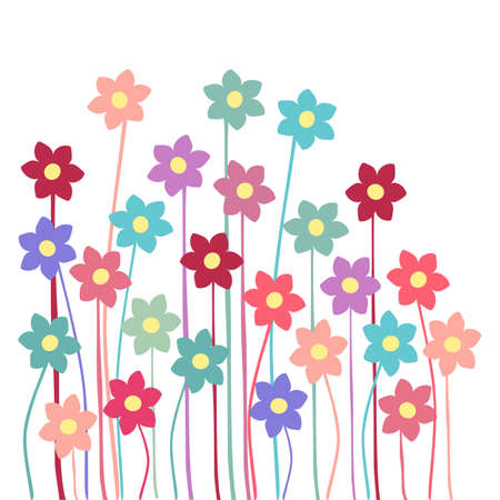 Flowers in white background Illustration