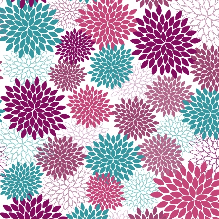 Vector seamless wallpaper and background of fancy flowers Stock Vector - 17150485