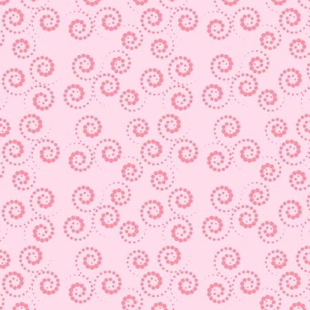 Naadloze roze en groene achtergrond Collection for Mom Motive krullen Stock Illustratie