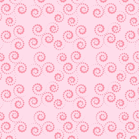 Seamless pink and green background  Collection for Mom  Motive curls Ilustrace