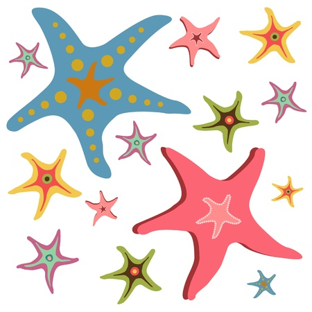 Starfishes vector seamless pattern Stock Vector - 17150477