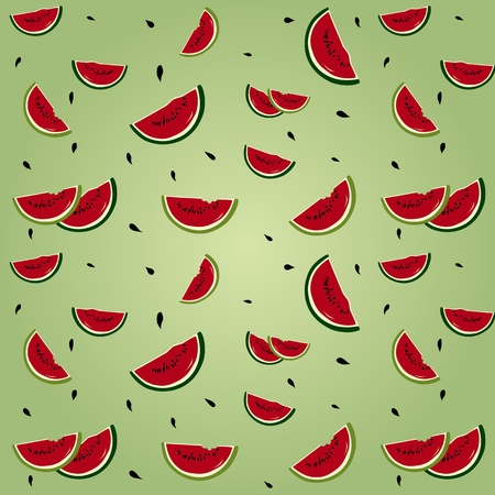 Seamless background with watermelon segments Stock Vector - 17150476