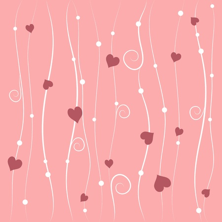 Valentines day background with pink hearts Stock Vector - 17297384