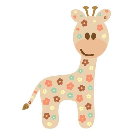 jirafa cute: Jirafa del beb� como un estilo lindo Vectores