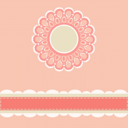 Elegant vintage lace frame for invitation or greeting card Vector
