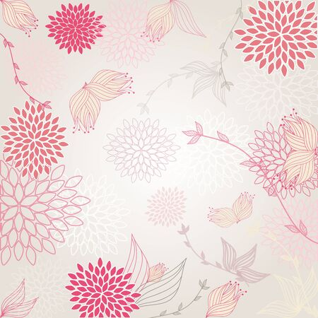 Beautiful background with seamless pattern Stock Vector - 17974114
