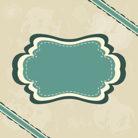 Vintage retro frame on blue grunge background Stock Vector - 18447279