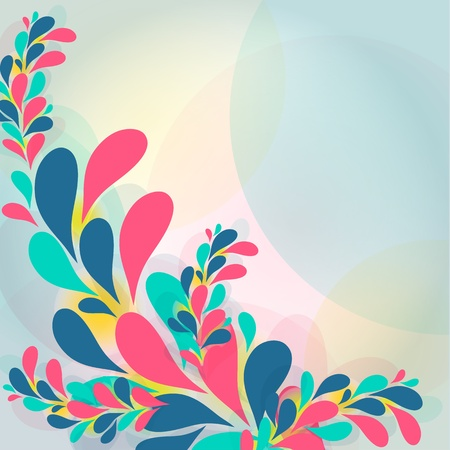 Abstract background with transparent ornament Stock Vector - 18812748