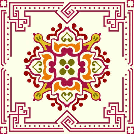 ceramic: Seamless ornamental tile background Illustration