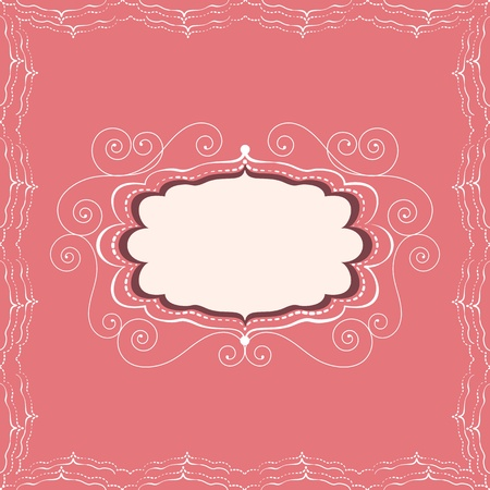 Decorative vintage frame of greeting card or invitation Stock Vector - 18812751
