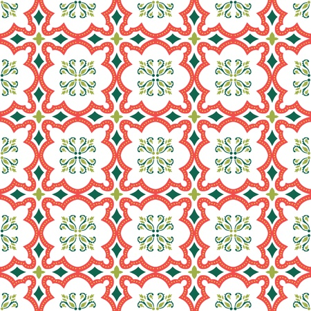 Seamless ornamental tile background vector illustration