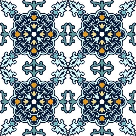 marocchini: Seamless ornamentale piastrelle sfondo illustrazione vettoriale