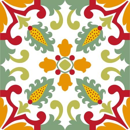 persian culture: Seamless ornamental tile background vector illustration