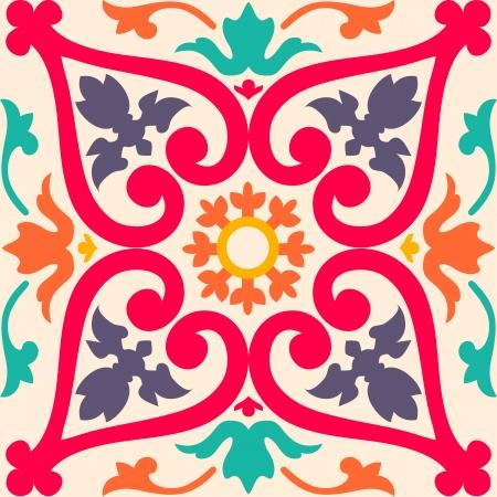 Beautiful seamless ornamental tile background  illustration Illustration