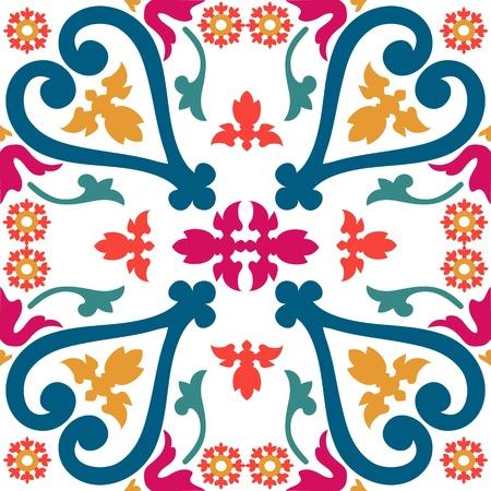 marocchini: Bella seamless ornamentale piastrelle sfondo illustrazione