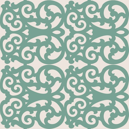Beautiful seamless ornamental tile background  illustration Vector