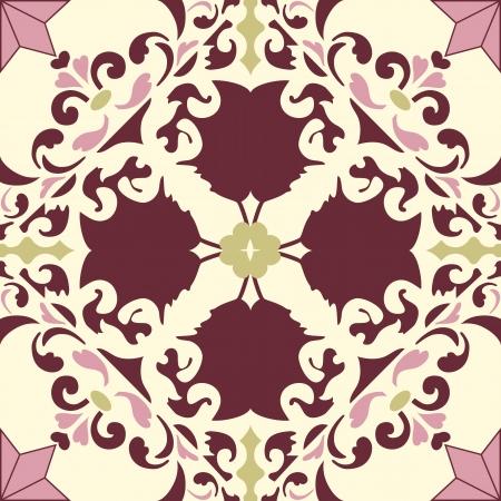 Achtergrond vintage bloem. Naadloze bloemmotief. Abstract behang. Textuur royal. Stof illustratie.