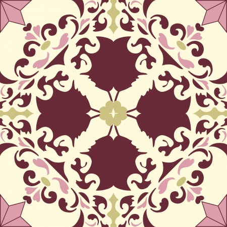 Background vintage flower. Seamless floral pattern. Abstract wallpaper. Texture royal. Fabric illustration. Reklamní fotografie - 19928138