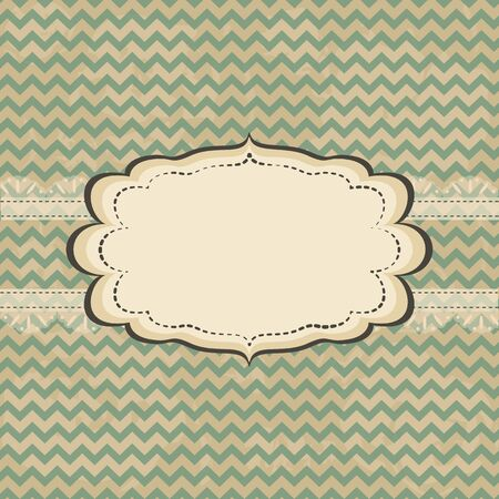 Vintage card design with frame on grunge background Vector