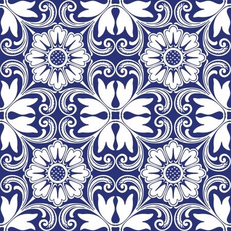 Achtergrond vintage bloem Naadloze bloemmotief Abstract behang Textuur koninklijke Stof illustratie