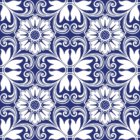 Background vintage flower  Seamless floral pattern  Abstract wallpaper  Texture royal  Fabric illustration  Stock Vector - 20666681