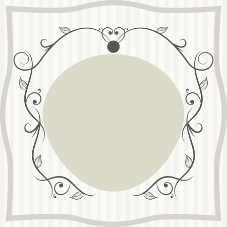 Decorative vintage frame of greeting card or invitation Stock Vector - 21159324
