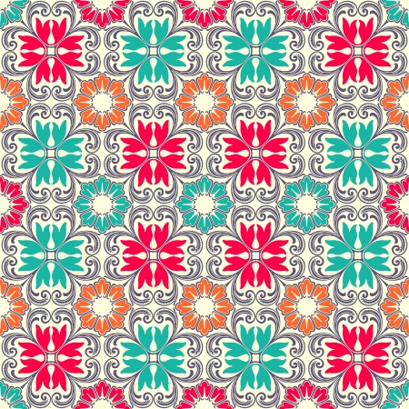 persian culture: Beautiful seamless ornamental tile background vector illustration