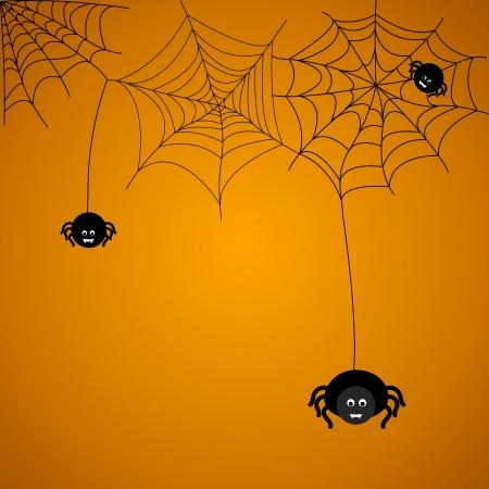 Halloween achtergrond. De spin weeft een web.