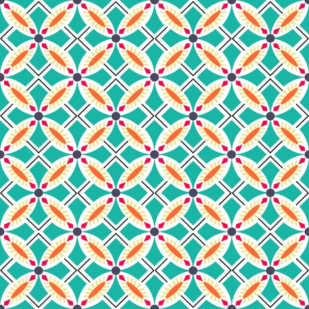Beautiful seamless ornamental tile background illustration