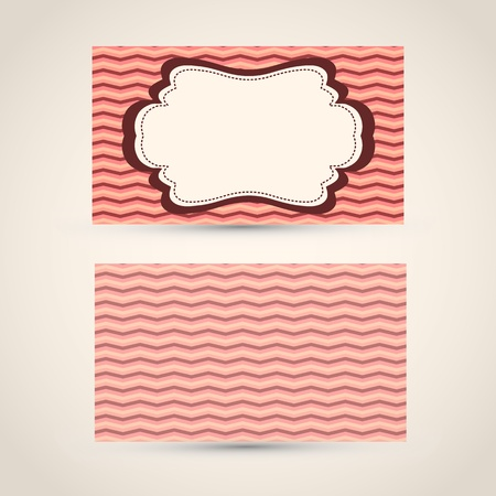 Old-style retro vintage business card - both front and back side  Vector