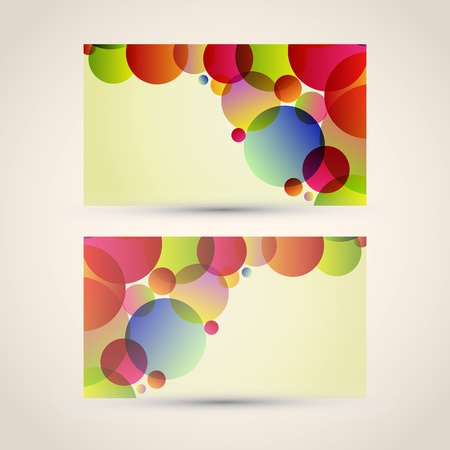 Business card with abstract background.  Vector