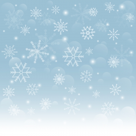 Christmas snowflakes background  Falling snowflakes on snow  Vector illustration