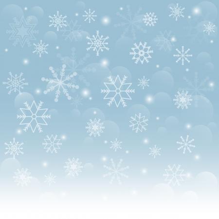 Kerst sneeuwvlokken achtergrond Vallende sneeuwvlokken op sneeuw Vector illustratie Stock Illustratie