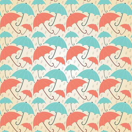 Fond avec des parapluies pastel Seamless automne illustration vectorielle Vecteurs
