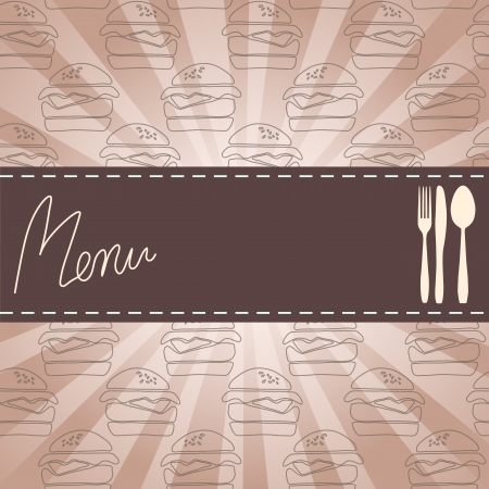 Illustration of menu design with background  vintage Vector